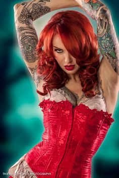 little red, red hair, corsets, bikinis, hair color ideas, redheads, dress pants, tattoo photography, tattoo ink