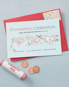 OMG I LOVE THIS!- save the date cards.