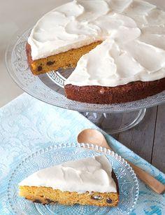 Receta de pastel de zanahoria y queso - Deliciosas recetas de cocina con foto: arroz, legumbres, carnes, postres...