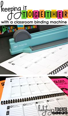 Ladybug's Teacher Files: Keeping it Together with a Classroom Binding Machine