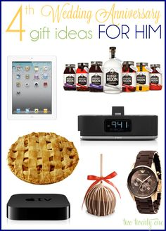 4th anniversary gift ideas for him-fruit/flower theme