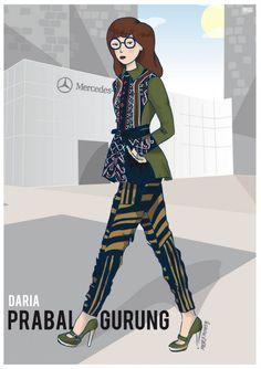 Daria in Prabal Gurung by Michele Moricci. #nyfw