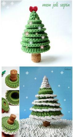 Patrones para Crochet: Arbol de Navidad con Anillas de Crochet
