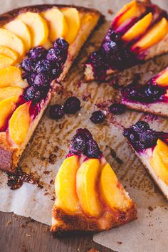 Peach and Blueberry Brioche Tart by deliciouseveryday #Tart #Peach #Blueberry