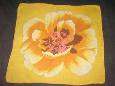 Yellow Chiffon Poppy Scarf, eBay