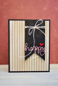 Happy Holiday Card, Handmade Card