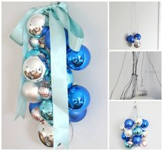 28 insanely easy christmas decorations: Ornament Swag