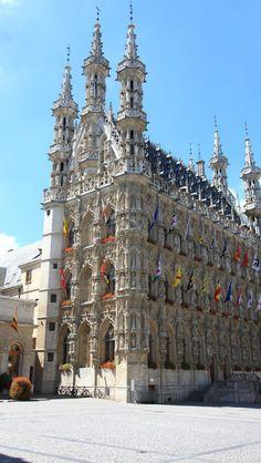 Medieval City Hall Leuven  Belgium