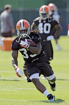 Cleveland Browns running back Trent Richardson was among the rookies on hand for the first day of training camp.