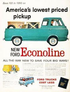 Vintage Ford Truck Econoline Print Ad