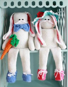 """Everyone likes to join in on the hunt during the Easter season and designer Maggie Weldon has come up with new ways to add to the festivities.Mr. and Mrs. Bunny Shelf Sitter are a playful duo and will add a touch of friendly spring fun to any part of your home, while the Easter Basket Doorstop fits over a standard brick to be the perfect complement to opening your doors on breezy, beautiful spring days. Now you can have fun finding new places to """"hide"""" these latest addit"""
