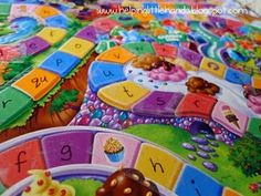 Modified Candy Land game: we played Candy Land like normal, but we had to say the sound the letter makes when we landed on it. Then we made it a bit more challenging...we had to think of a word that started with the letter we landed on. Great idea!!