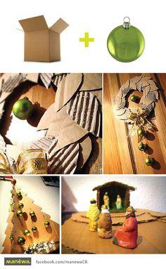 #DIY: Wreath and Christmas tree made of cardboard