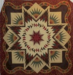 Glacier Star, Quiltworx.com, Made by Julie Peasley. Taught by CI Andrea Schnur.