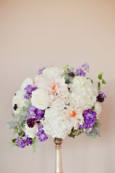 Elegant Purple Wedding at Sky Creek Ranch | Photography: Ivy Weddings | Floral Design: We + You | See more on SMP: http://www.StyleMePretty.com/southwest-weddings/2014/03/12/elegant-purple-wedding-at-sky-creek-ranch/