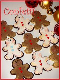 Simple gingerbread men cookies