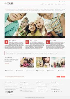 OneCause #Joomla #responsive #template on ThemeForest. #nonprofit #charity #webdesign #inspiration #clean #minimal. Available for purchase. webdesign inspir, respons templat