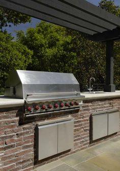 brick featur, pinn resid, brick outdoor, barbecues, outdoor kitchens, bricks, eldorado stone, dream houses, stainless steel