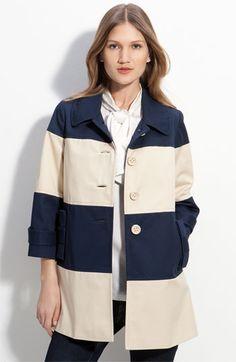 "Kate Spade New York ""Nera"" Colorblock Mac Coat $558.00"