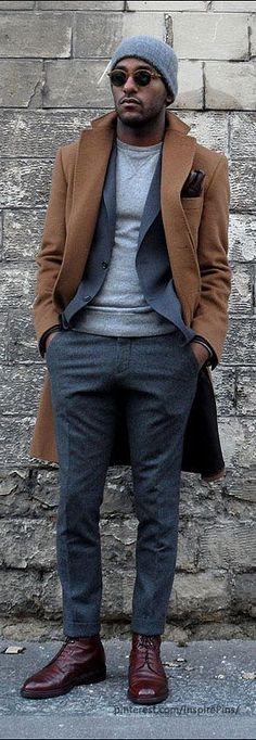 suit with a fitted sweatshirt underneath
