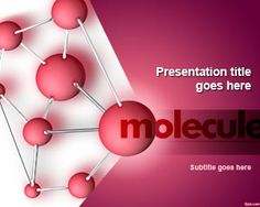 Free molecule PowerPoint template is not only ideal for a Chemistry class, but also the conference room #science #nature #atoms #templates #PowerPoint