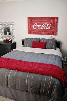 coke headboard.