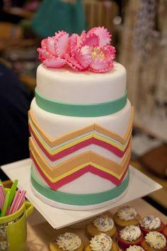 Chevron Print Cake
