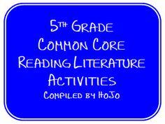 5th grade Common Core Reading Literature Activities freebie