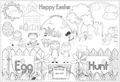 FREE Easter Egg Hunt Poster and Coloring Page