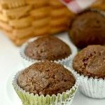 Healthier Double Chocolate Zucchini Muffins tasty and Wagler boy approved!