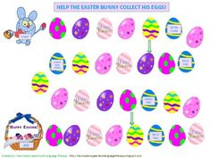 Free! Easter themed articulation game and interactive activity targeting the R sound