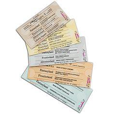 LOVE!! Vintage Disney Admission Ticket magnet set!