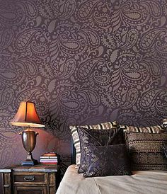 Cutting Edge Stencils - Paisley Allover Stencil... I want to do this on my concrete basement floor