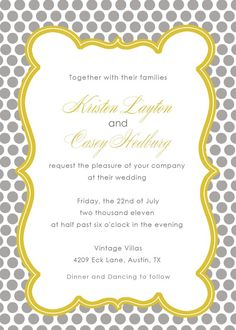Cute invitations for Bridal shower