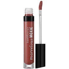 bareMinerals - Marvelous Moxie Lipgloss - Maverick - rosewood shimmer #sephora