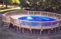 above ground pool decks - Google Search