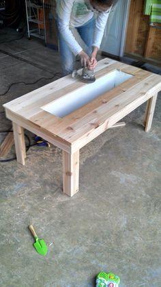 DIY coffee table planter