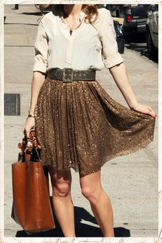 awesome glittery skirt