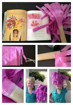 tissue paper pom-pom craft