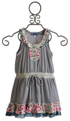 Hannah Banana Truly Me Sleeveless Stripe Dress