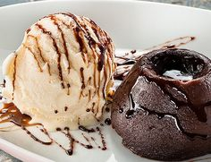 lava cake + ice cream      Treat yourself to yummy food pictures at Your Daily Muffin!    find more mouthwatering treats here!