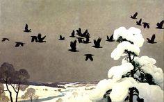 'Crows in Winter' (1941) N.C. Wyeth