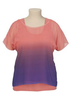 Ombre Cold Shoulder 2fer Top available at #Maurices