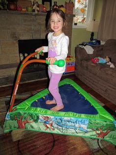 JumpSport iBounce Kids Trampoline- They're lovin it! :D