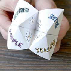 """Cootie Catchers""  or ""Fortune Tellers"" These were so much fun!!"