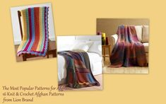 The patterns that are more up my alley came from Lion Brand. Together with their efforts, AllFreeCrochet and AllFreeKnitting have come out with an awesome eBook: The Most Popular Patterns for Afghans: 16 Knit & Crochet Afghan Patterns from Lion Brand.