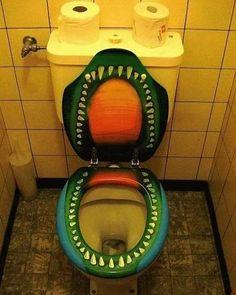 Painted Teeth Toilet Seat