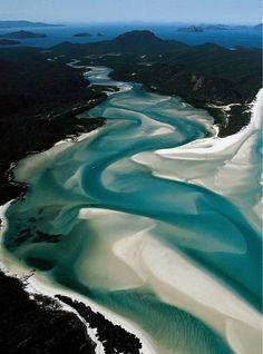Whitsunday Islands, Whitehaven Beach, Australia.