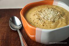 Sunday Slow Cooker: Cheesy Cauliflower Soup   Slender Kitchen