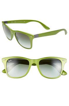 Metallic green Ray-Ban Sunglasses.